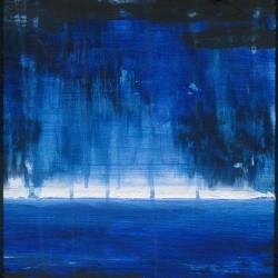 Blå sjö, akryl (såld)