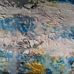 Blå vågor, 2011, akryl