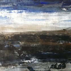 Fjällvy, 2013, akryl på papper