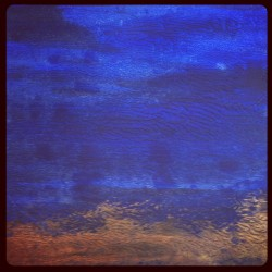 Guldblå, 2011, akryl på papper