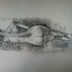 Maria, 2013, kolteckning