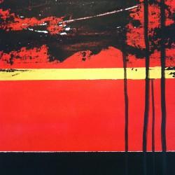 Röd, abstrakt, 2012