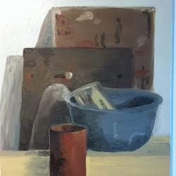 Stilleben i järn, 2012, olja
