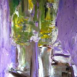 Stilleben, kaveldun, 2013, abstrakt, olja