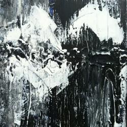 Svartvit 1, 2011, akryl